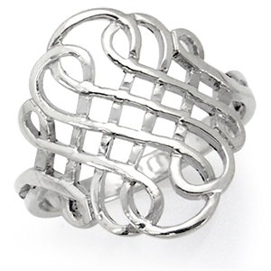 925 Sterling Silver CELTIC WEAVE Ring