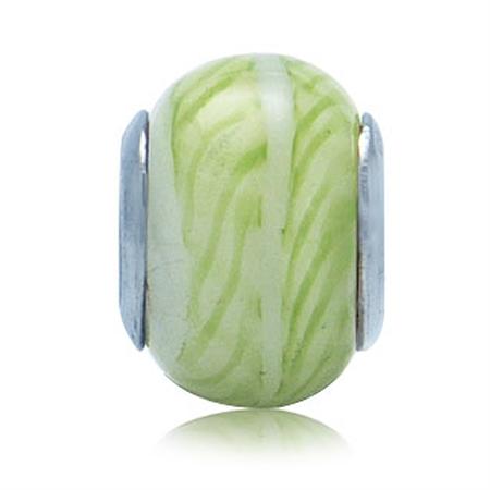 Green Murano Glass 925 Sterling Silver European Charm Bead (Fits Pandora Chamilia)