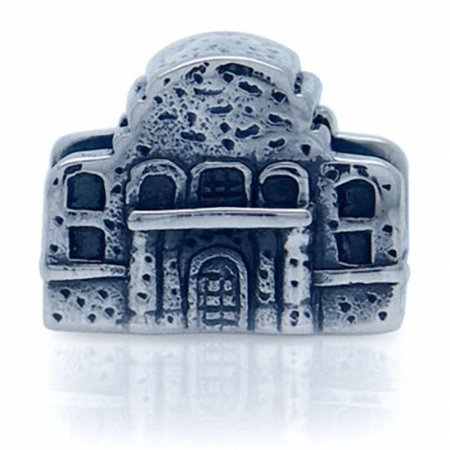 925 Sterling Silver THE ALAMO European Charm Bead (Fits Pandora Chamilia)