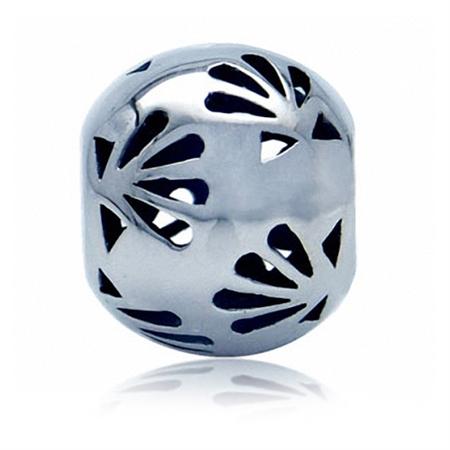 925 Sterling Silver Sea Shell Summer Filigree European Charm Bead (Fits Pandora Chamilia)