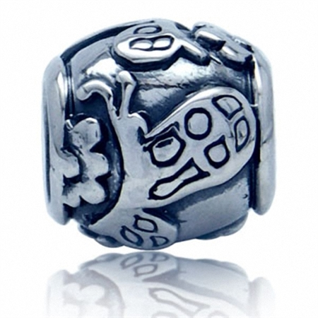 925 Sterling Silver BUTTERFLY European Charm Bead (Fits Pandora Chamilia)