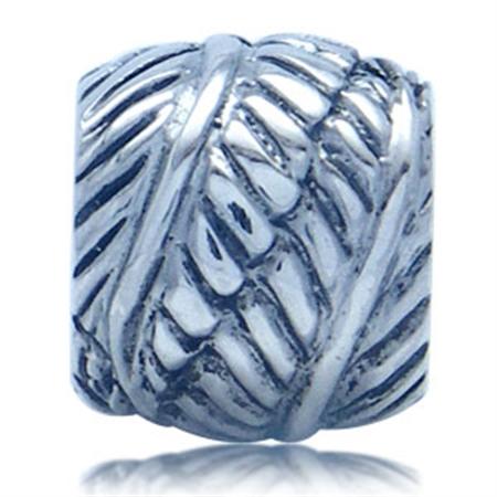 AUTH Nagara Leaf Sterling Silver Charms Bead Fits Pandora Chamilia