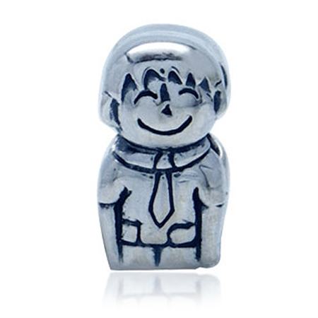 925 Sterling Silver MY BOY/SON European Charm Bead (Fits Pandora Chamilia)