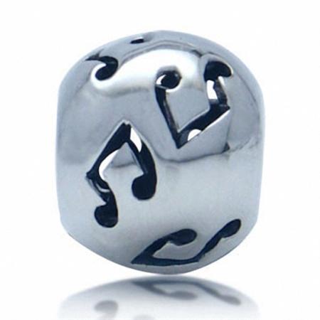 925 Sterling Silver Music Note Filigree European Charm Bead (Fits Pandora Chamilia)