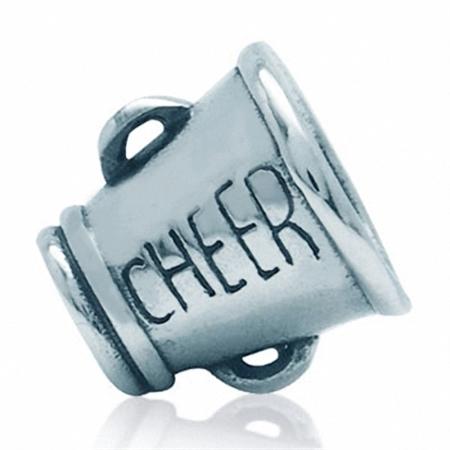 925 Sterling Silver CHEER European Charm Bead (Fits Pandora Chamilia)