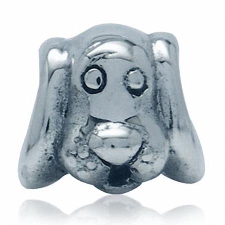 925 Sterling Silver DOG European Charm Bead (Fits Pandora Chamilia)