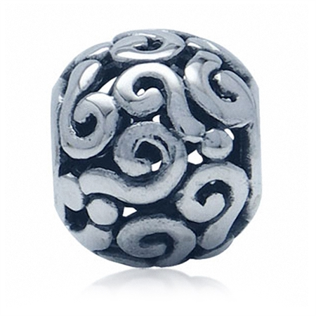 AUTH Nagara 925 Sterling Silver Question Mark European Charm Bead (Fits Pandora Chamilia)