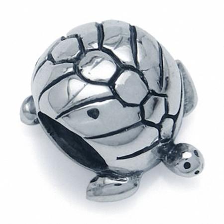 925 Sterling Silver TURTLE European Charm Bead (Fits Pandora Chamilia)