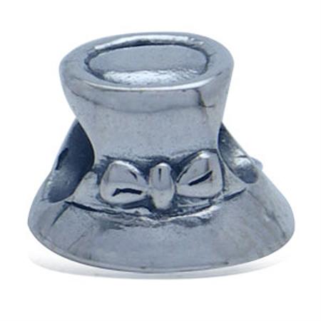 AUTH Nagara Lady Hat Sterling Silver Charms Bead fits Pandora Chamilia