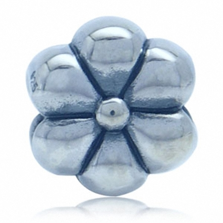 AUTH Nagara Flower Sterling Silver Charms Bead Fits Pandora Chamilia