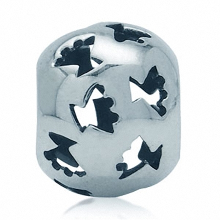 925 Sterling Silver Filigree Ball European Charm Bead (Fits Pandora Chamilia)