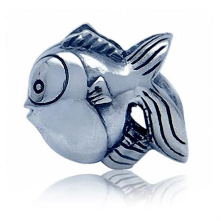 925 Sterling Silver FISH European Charm Bead (Fits Pandora Chamilia)