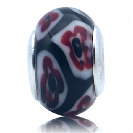 Multi Colored Murano Glass 925 Sterling Silver European Charm Bead (Fits Pandora Chamilia)