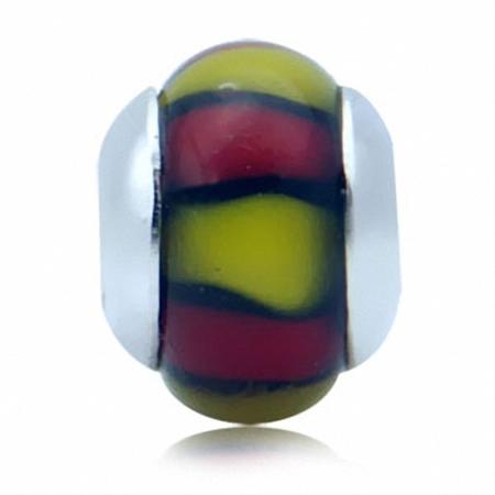 Murano Glass Sterling Silver Charms Bead fits Pandora Chamilia