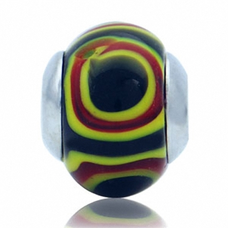 Murano Glass Sterling Silver Charms Bead fits Pandora Chamilia