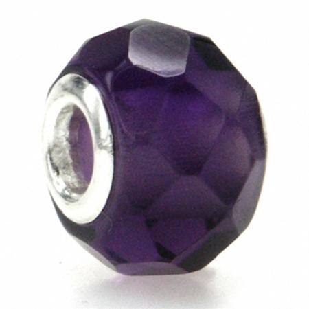Amethyst Murano Glass 925 Sterling Silver European Charm Bead (Fits Pandora Chamilia)