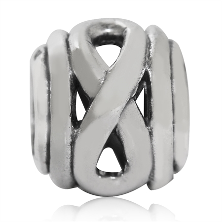 925 Sterling Silver Infinity Knot European Charm Bead (Fits Pandora Chamilia)