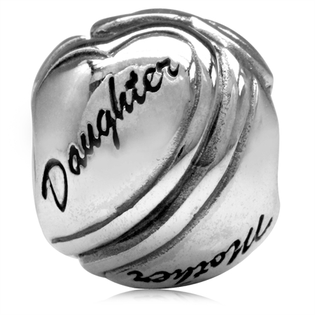 925 Sterling Silver MOTHER & DAUGHTER European Charm Bead (Fits Pandora Chamilia)