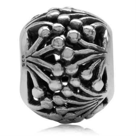925 Sterling Silver Filigree European Charm Bead (Fits Pandora Chamilia)