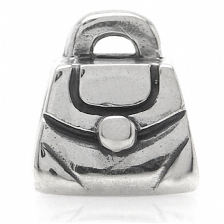 AUTH Nagara 925 Sterling Silver PURSE Threaded European Charm Bead