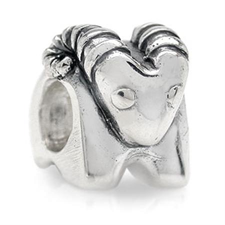 AUTH Nagara GOAT Silver Threaded European Charm Bead