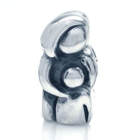 AUTH Nagara 925 Sterling Silver MOTHER & BABY Threaded European Bead