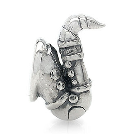 925 Sterling Silver SAXOPHONE Threaded European Charm Bead (Fits Pandora Chamilia)