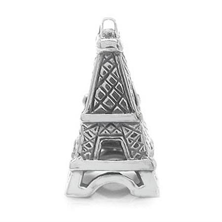 925 Sterling Silver EIFFEL TOWER Threaded European Charm Bead