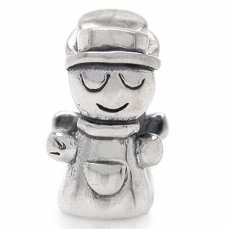 925 Sterling Silver BOY Threaded European Charm Bead