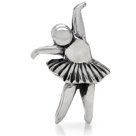 AUTH Nagara BALLET 925 Sterling Silver Threaded European Charm Bead