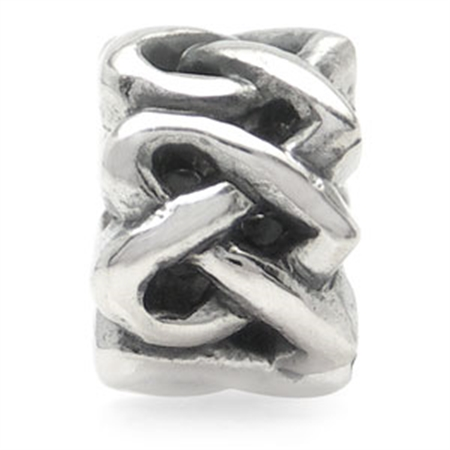 925 Sterling Silver Celtic Knot Heart Threaded European Charm Bead