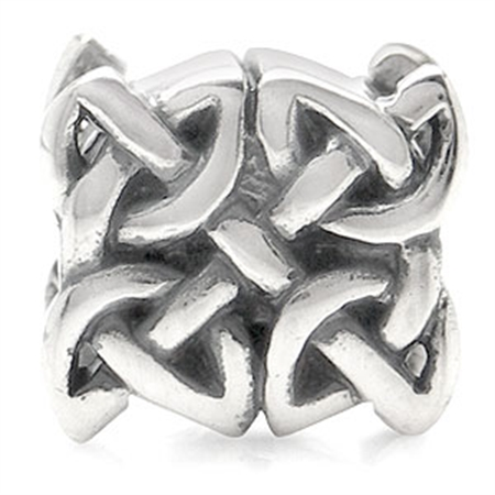 AUTH Nagara Sterling Silver Celtic Knot European Charm Bead (Fits Pandora Chamilia)