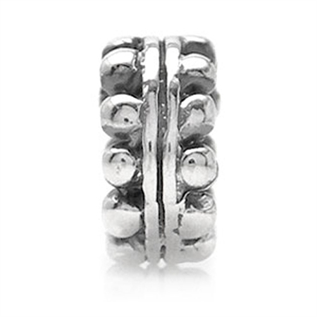 925 Sterling Silver Spacer Threaded European Charm Bead