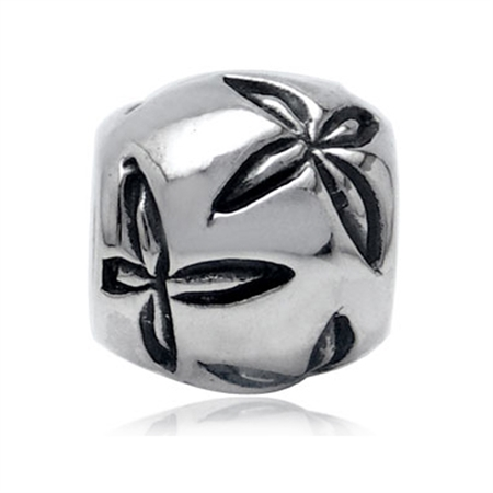 925 Sterling Silver FLOWER Threaded European Charm Bead