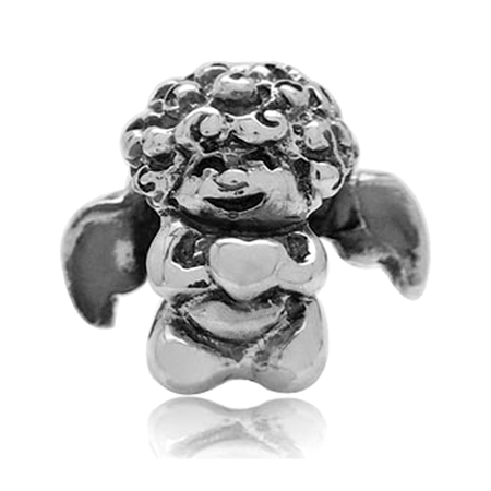 AUTH Nagara Sterling Silver Angel European Charms Screw Bead