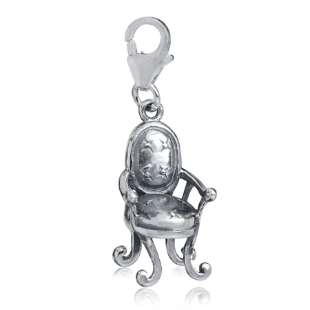 925 Sterling Silver CHAIR Dangle Charm
