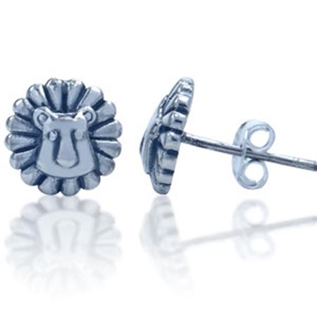 LION Sterling Silver Stud Earrings