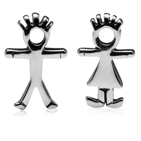 Gender/Boy & Girl 925 Sterling Silver Stud Earrings