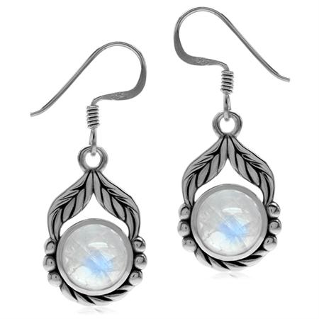 White Moonstone 925 Sterling Silver Earrings