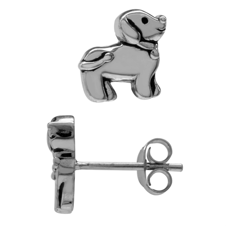 925 Sterling Silver Dog Pet Teens/Girls Casual Post/Stud Earrings