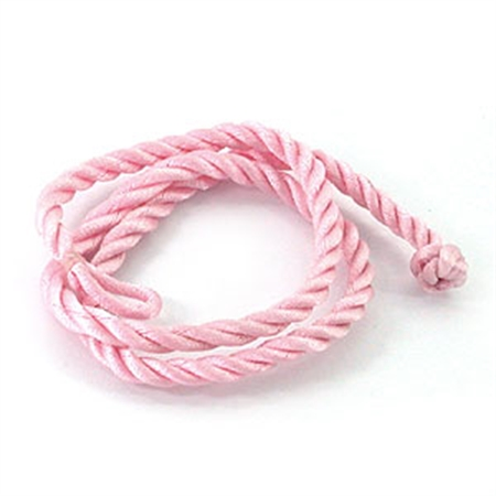 4MM Pink Colored Silk Cord necklace