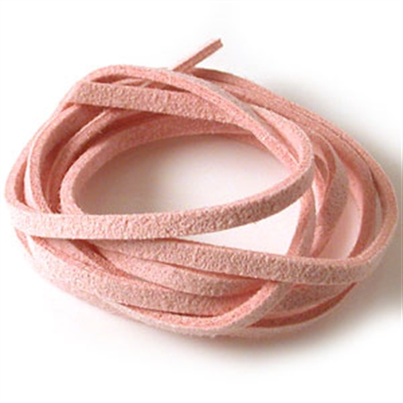Pink Colored Imitation Leather Cord Bracelet Necklace