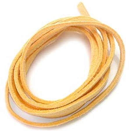 Yellow Colored Imitation Leather Cord Bracelet / Necklace