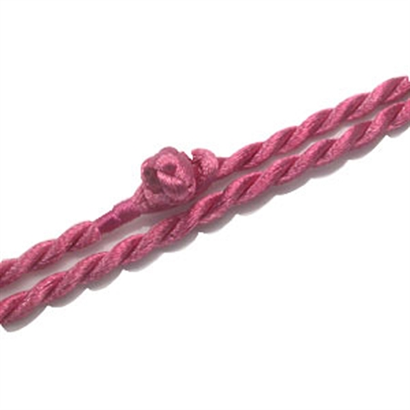 3.5MM Pink Colored Silk Cord Necklace