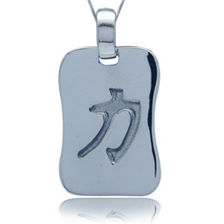 Inner strength chinese character sterling silver pendant inner strength chinese character sterling silver pendant aloadofball Images