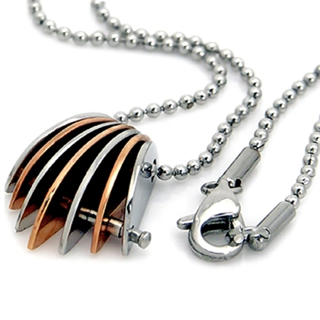 Copper Tone 316L Stainless Steel Pendant w/Necklace