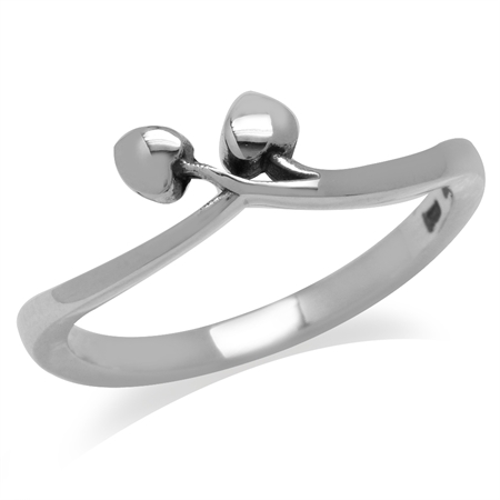 925 Sterling Silver Twin Heart Ring