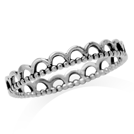 925 Sterling Silver Eternity Band Stack/Stackable Ring