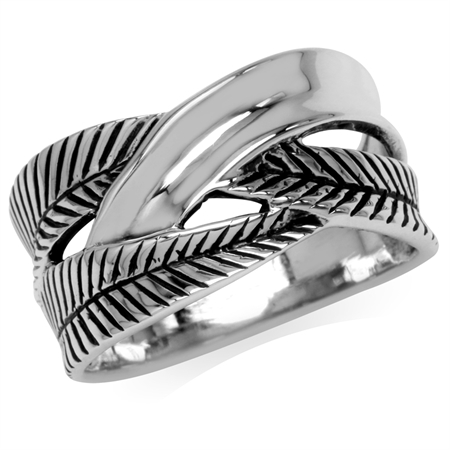 925 Sterling Silver Banana Leaf Fashion Casual Ring
