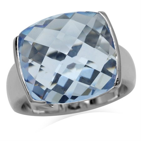 Tanzanite Blue CZ Sterling Silver Ring
